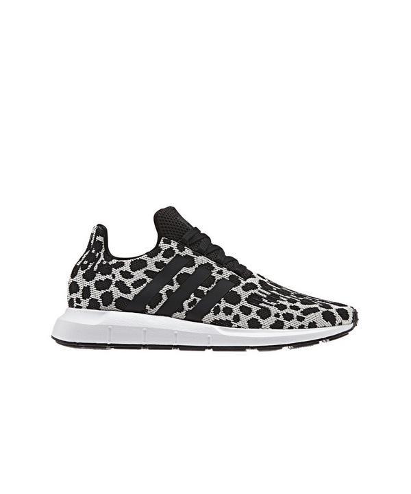 Adidas Swift Run Raw White Black Women S Shoe Hibbett City Gear Black Shoes Women Leopard Print Sneakers Womens Workout Shoes