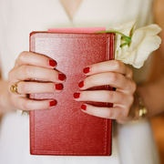 Red nails for your wedding?  Hells yeah.