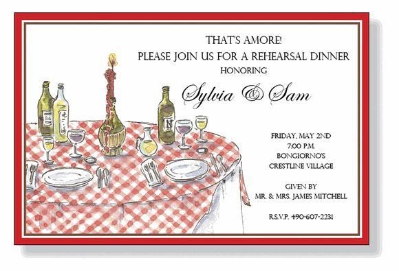 Italian Wedding Invitation: Italian Table Party Invitations