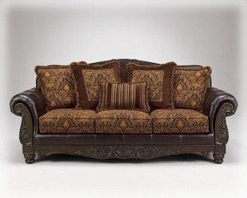 Ashley Furniture Sofas | 3470238 Ashley Furniture Francesca Truffle Sofa - Steele's Furniture ...