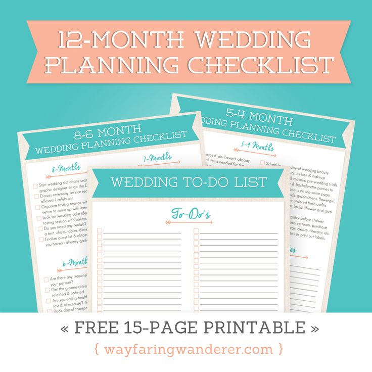 The  Best Printable Wedding Planning Checklist Ideas On