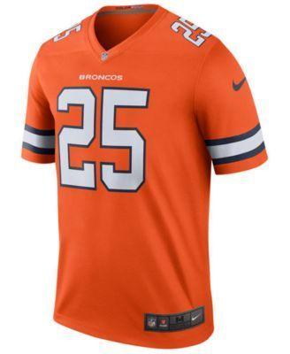 Nike Men's Chris Harris Jr. Denver Broncos Legend Color Rush Jersey - Orange XXL
