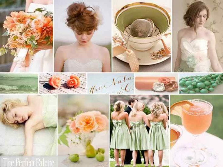{vintage gardens}: a palette of peach, green + ivory | The Perfect Palette