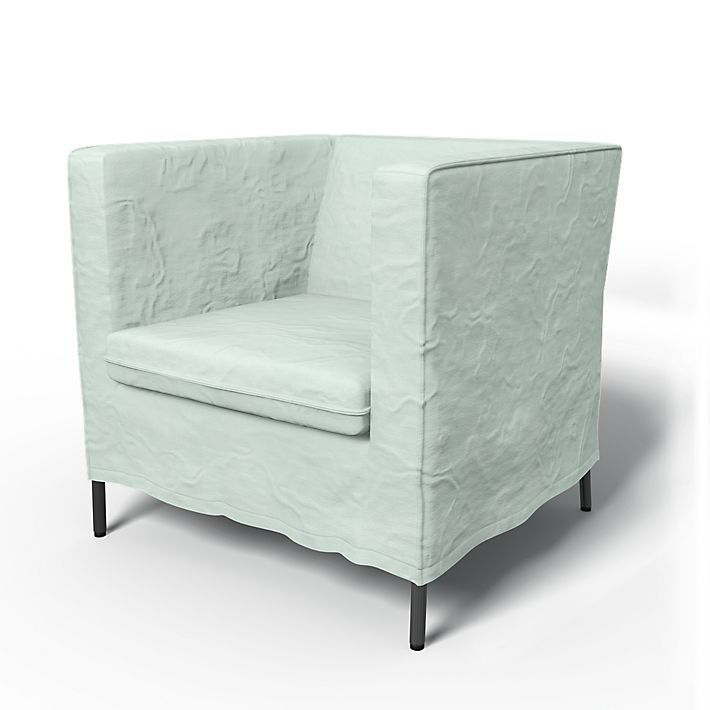 BEMZ makes IKEA slipcovers in gorgeous colors & fabrics at great prices. Shown: Klappsta, Armchair Covers, Armchair, Loose Fit Urban using the fabric Chenille Mineral Blue