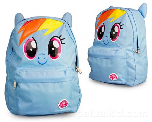 MY LITTLE PONY RAINBOW DASH BACK PACK WITH 3D EARS