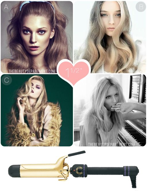 "How to use a 1 1/2"" curling iron. This post tells you how to use each size curling iron! The Beauty Department really is the best!"