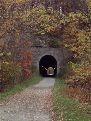 Montour Trail. 56 miles rail trail Allegheny and Washington Counties. Links to Panhandle Trail to Weirton, WV
