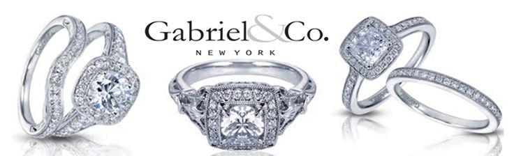 These engagement rings by Gabriel & Co at Lamon Jewelers are a girl's dream! We love the pairing wedding bands for a seamless look! Click the image to learn more. Photo credit: Lamon Jewelers