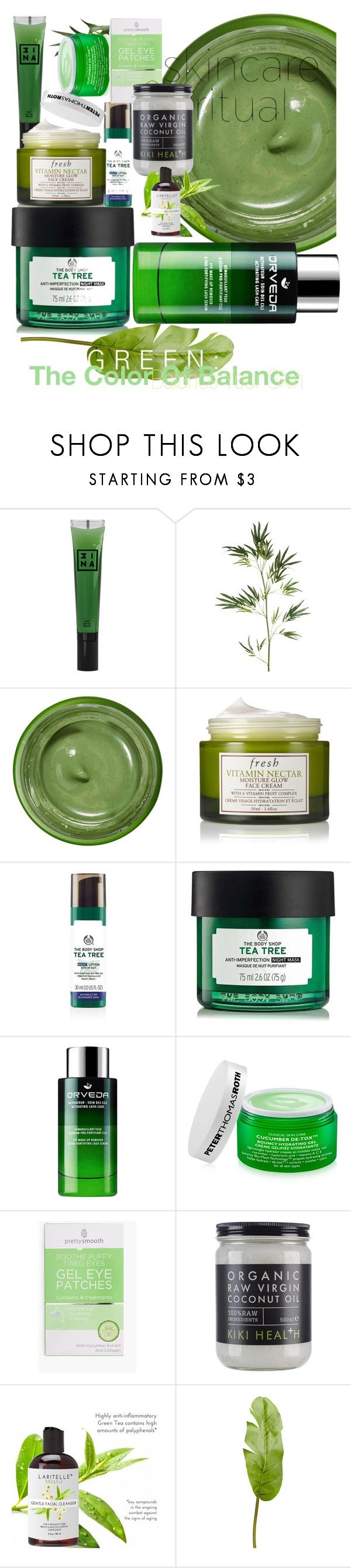 """""""balance your skin"""" by dogatalya ❤ liked on Polyvore featuring beauty, 3ina, Pier 1 Imports, Tata Harper, Fresh and Peter Thomas Roth"""