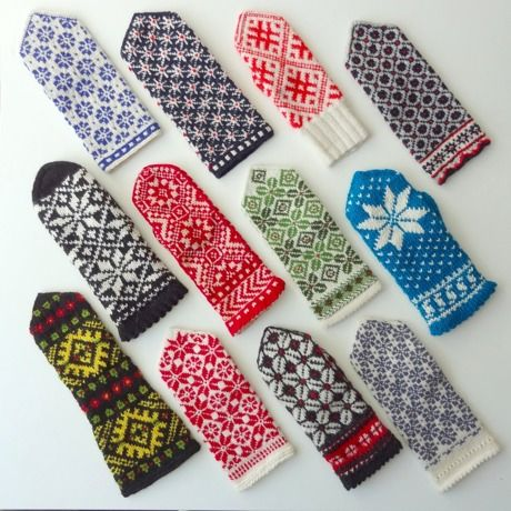 Mitten patterns so pretty you want to cry (because you know that you will only have the patience and space at home to do maximum 2 pairs)