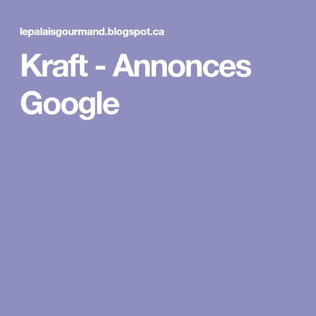Kraft - Annonces Google