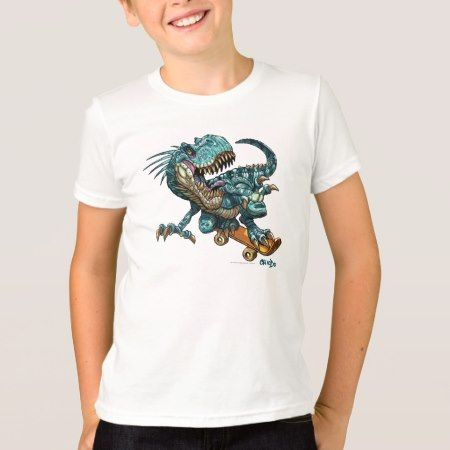 Skateboarding Dinosaur T Shirt - click/tap to personalize and buy