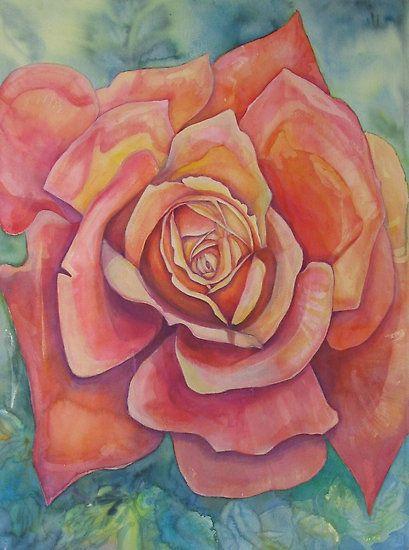 Orange Rose Bud by Jack Draper