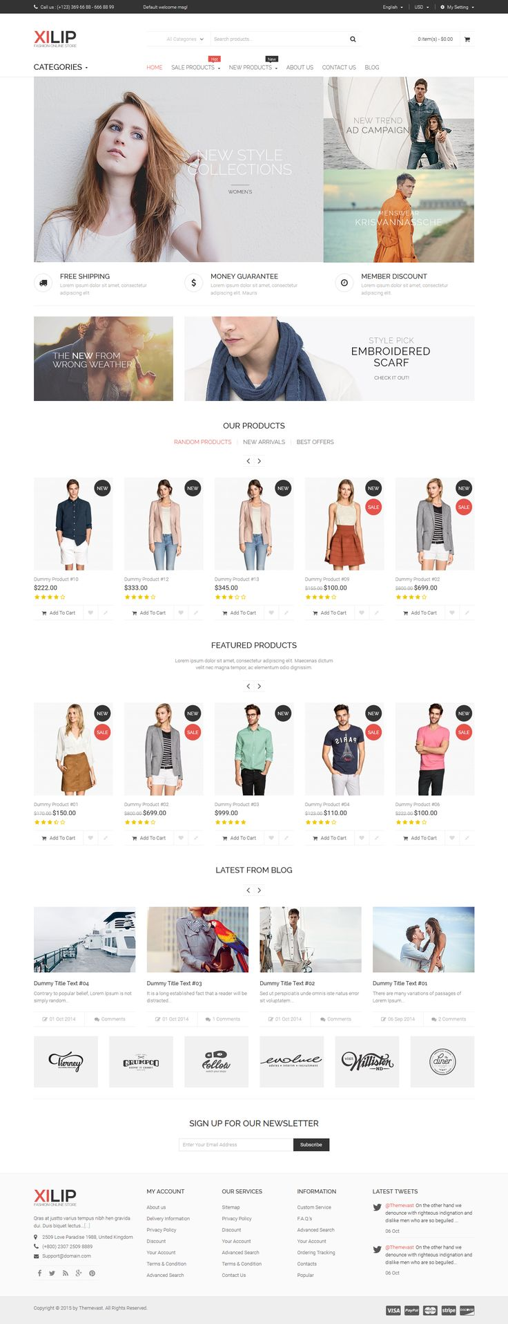 Xilip- Responsive Magento #Fashion Themes is a the best design #magento 2015, a design perfect, easy customize. If you want to have a very unique and attractive #design and trying to make your way among numerous #store owners, Xilip is a great starting point for you.