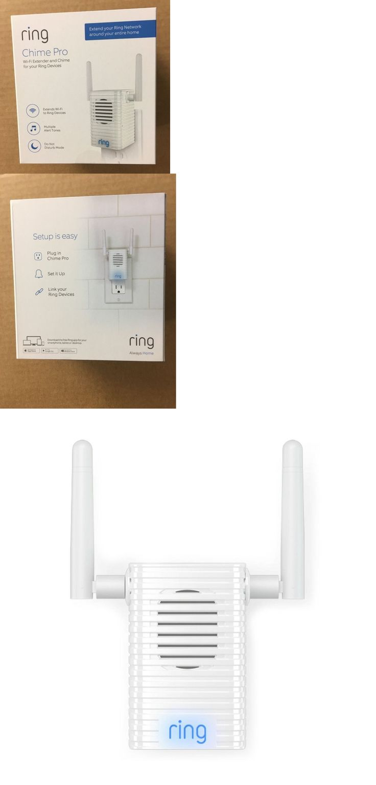 Doorbells 115975 Ring Chime Pro Indoor Chime And Wi Fi Extender For Ring Network Devices Buy It Now Only 44 97 On Ebay Doorbells Chimes Doorbell Ebay