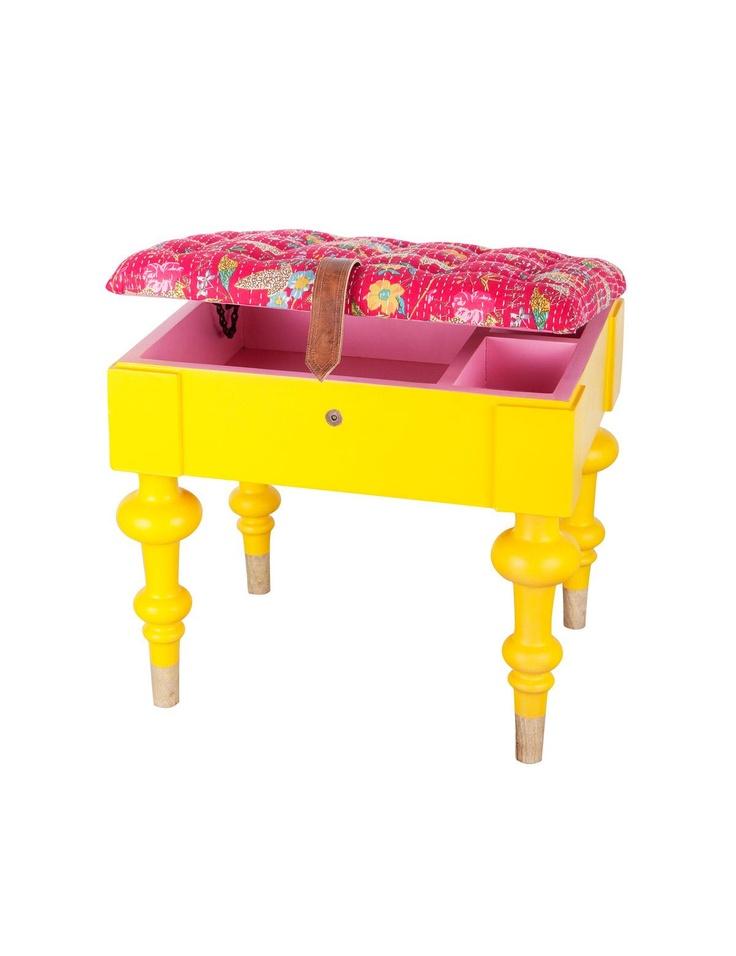 NINJA storage stool yellow | Storage | Organizing | Organizing | Interior | INDISKA Shop Online