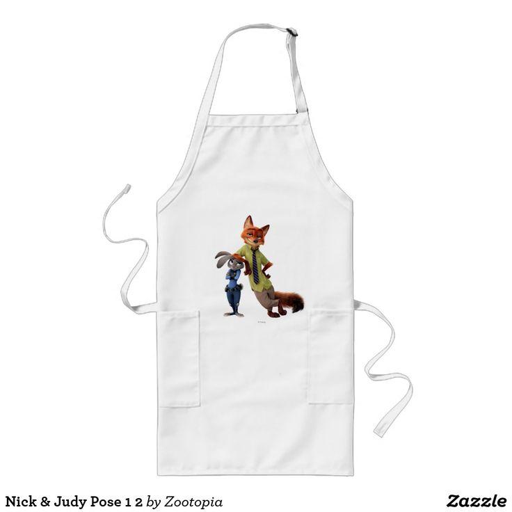 Nick & Judy Pose 1 2. Producto disponible en tienda Zazzle. Product available in Zazzle store. Regalos, Gifts. #delantal #apron