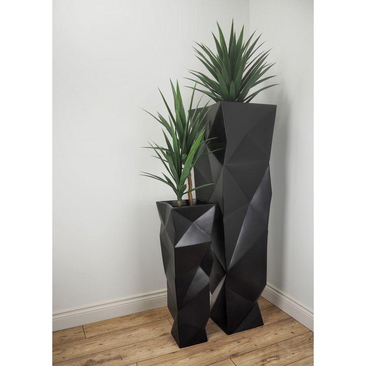 Lux Textura IV // Black #Sponsored #planter, #IV