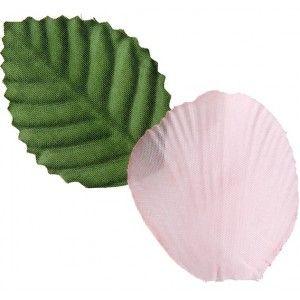 Pétale rose en tissu avec feuilles les 100, pétales de fleurs roses, pétales de roses rose, décoration festive, mariage, St Valentin, tables festives.