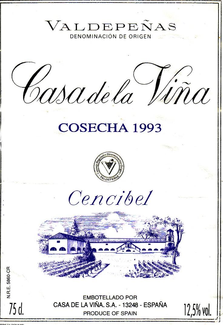 in Standardwein früher Jahre: Valdepenas, ca. 4,50 DM - sehr ordentlich