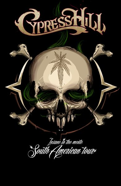 CypressHill insane in the mente by Don Motta, via Behance