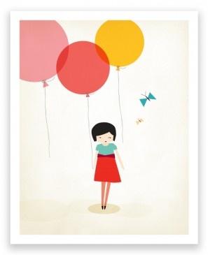 Little One Balloon Art Print