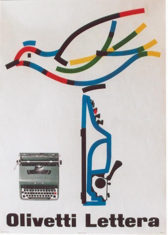 Olivetti Lettera Poster, Designed by Giovanni Pintori, 1964