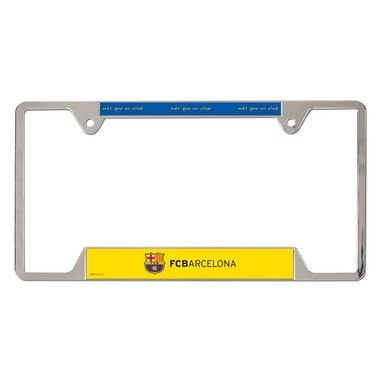 "FC Barcelona Official Soccer 12"""" x 6"""" Metal License Plate Frame Barca Wincraft"