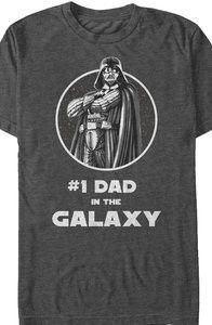 Charcoal #1 Dad in the Galaxy Star Wars T-Shirt