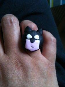Bague Batman façon pop
