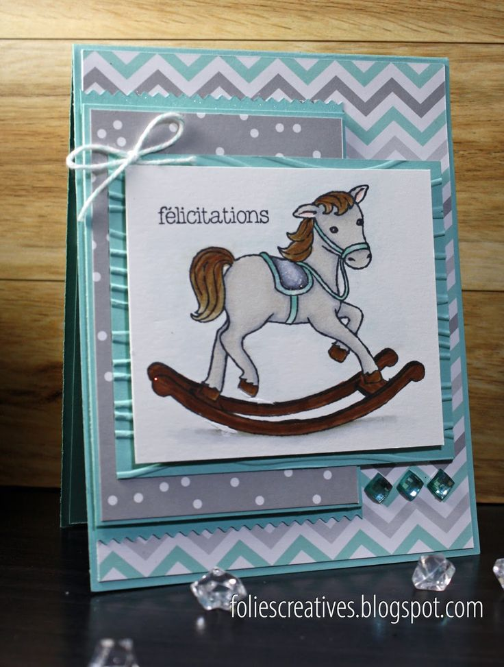 Handmade card by FoliesCreative. Playing with Little cuties, new stamps set in Occasion catalog 2017 by Stampin'Up!, Copic coloring. Clean and simple!