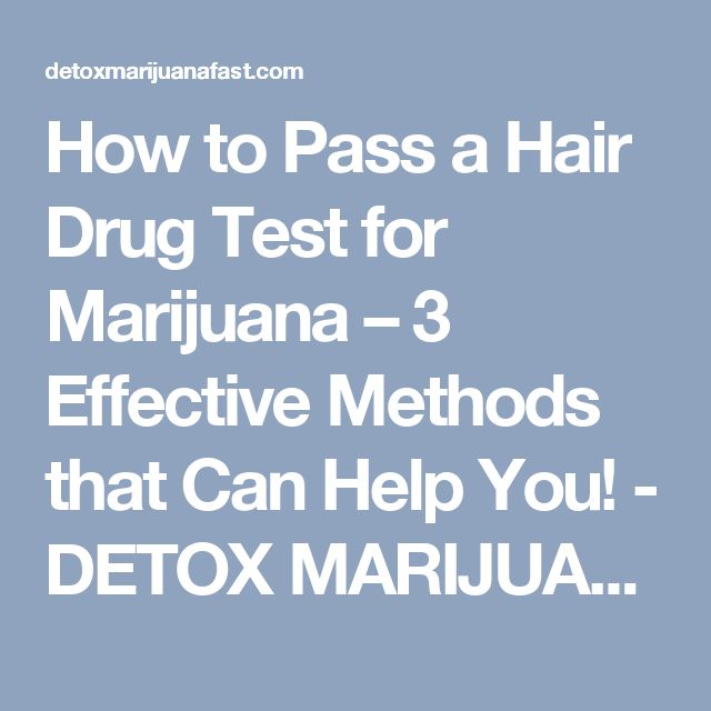 How to Pass a Hair Drug Test for Marijuana – 3 Effective Methods that Can Help You! - DETOX MARIJUANA FAST