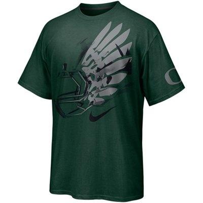No. 9 - Nike Oregon Ducks Helmet T-Shirt - Green