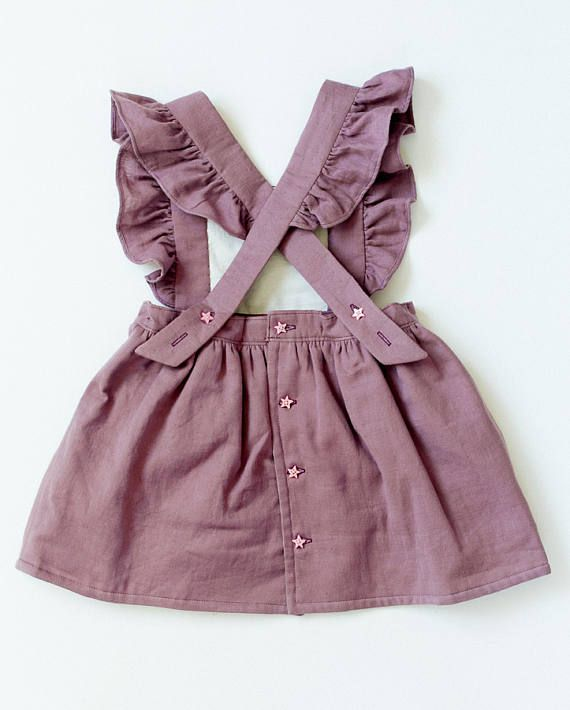 Double gauze Toddler Pinafore Dress Toddler Dress Vintage Girls Dress from Bly…