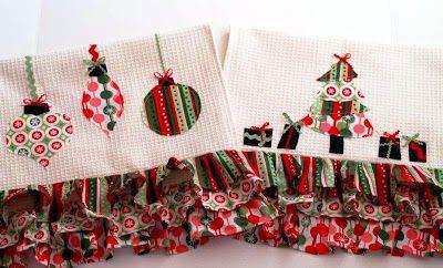 ATELIER CHERRY: Panos de prato natalinos