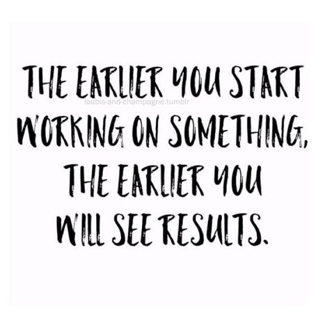 And the harder you work , more effort you put into it better and faster the results !