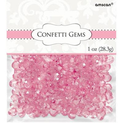 Confetti Gems Pink  Size: 28.3grams  -See more at: http://myhensparty.com.au/confetti-gems-pink-p-6630.html