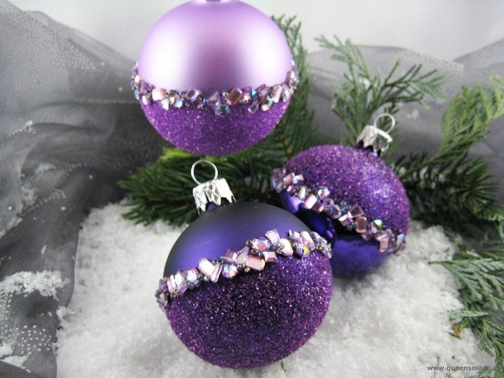 Die besten 25 christbaumkugeln ideen auf pinterest weihnachtsschmuck christbaumkugeln deko - Christbaumkugeln lila ...
