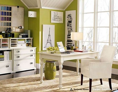 Bright and inspirational home office.