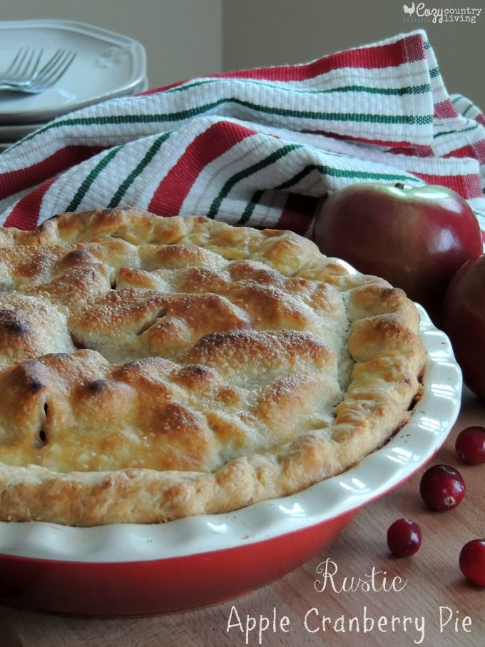 Simple & Delicious Rustic Apple Cranberry Pie that's perfect for the Holidays! #BRMHolidays #CleverGirls