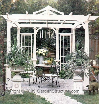 Outdoor living space!  http://www.gardenstructure.com//downloadable_P012_pergola_plans