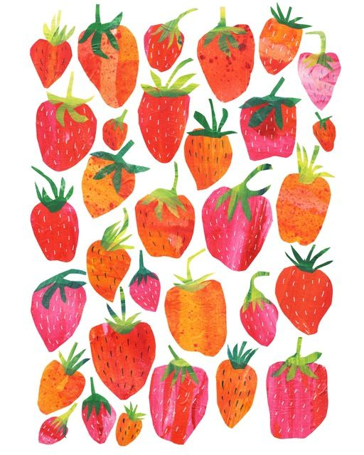 pattern | strawberry illustration
