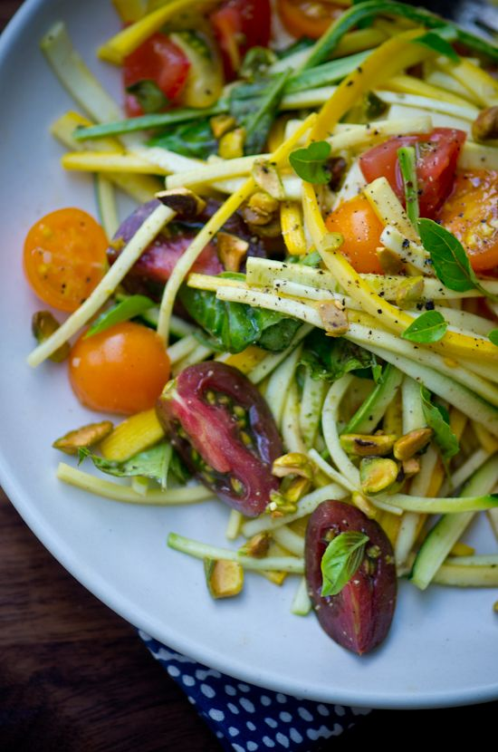 "blissfulb - bliss blog - blissful eats with tina jeffers: Zucchini and tomato ""pasta"""