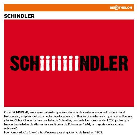 "Biograma ""Schindler"" (Based on Oskar Schindler) by Juan Carlos Berthelon."