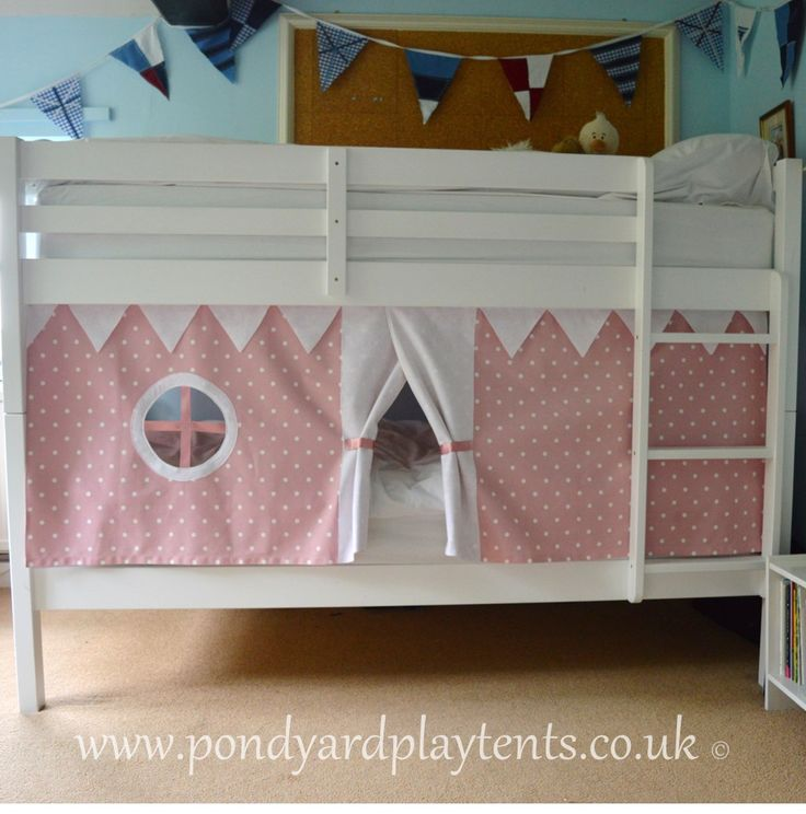 Pink Dotty Bunk Bed Tent