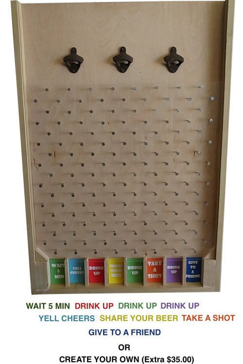 3FT Custom Bottle Cap Plinko – Pick Any Colors – Optional Logo