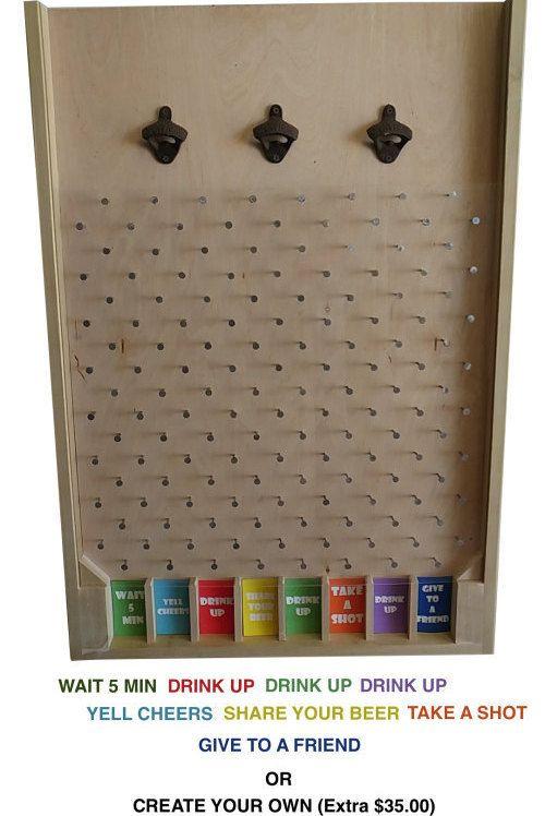 3FT Custom Bottle Cap Plinko – Pick Any Colors – Optional Logo