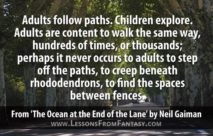 """The Ocean At The End Of The Lane By Neil Gaiman: """"Adults Follow Paths. Children Explore. Adults Are Content"""