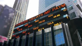 New York Stock Ticker