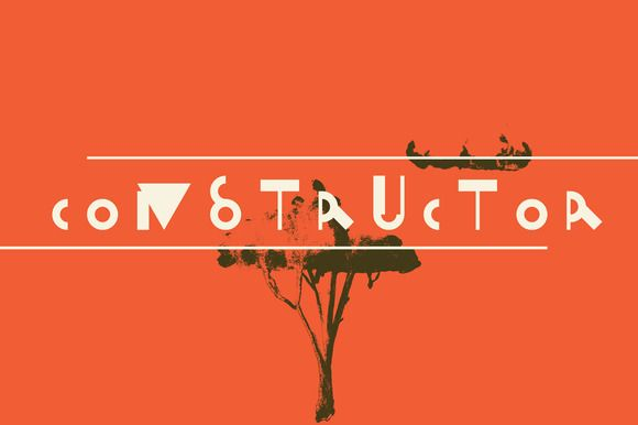 Constructor vector font by Creativemaker on @creativemarket